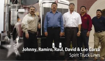 Johnny, Ramiro, Raul, David & Leo Garza - Spirit Truck Lines
